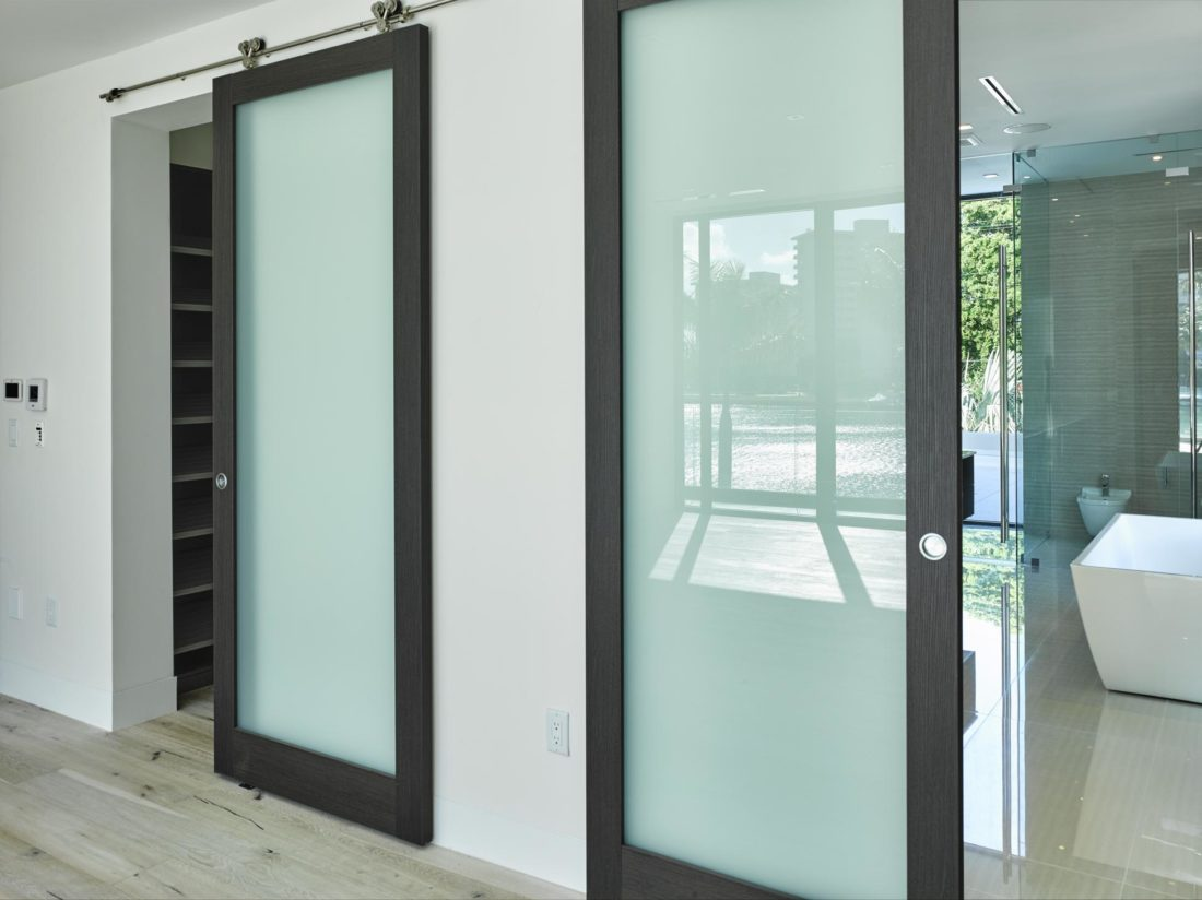 Modern barn door sliders