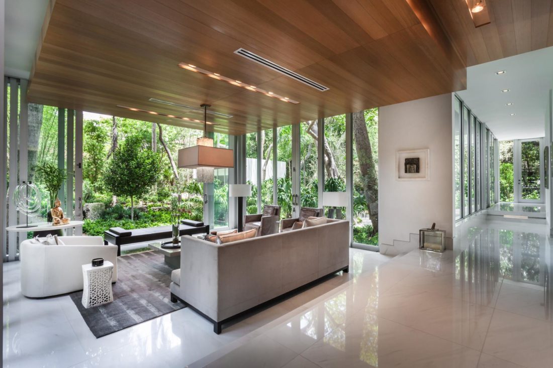 The home features marble flooring and baseboards