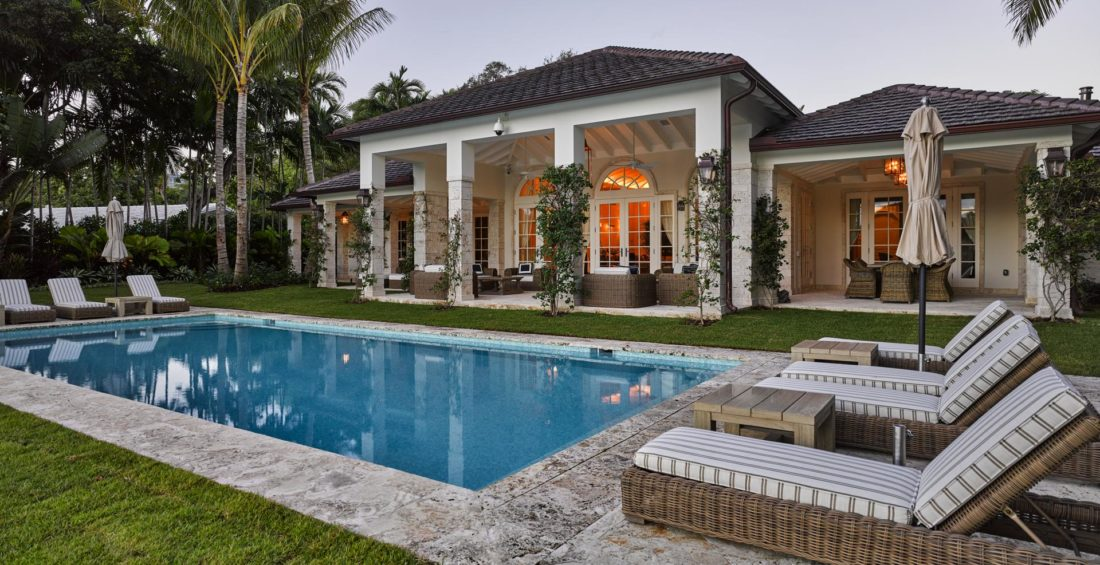 Pool and patio view