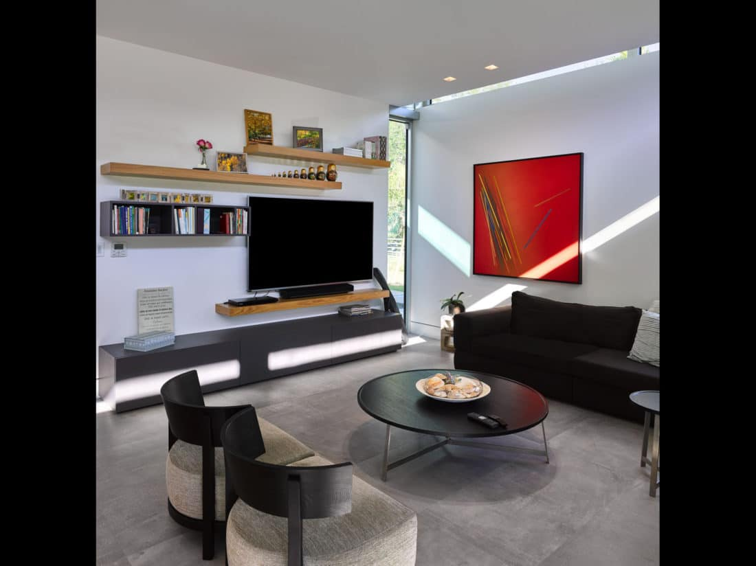 One of the living areas