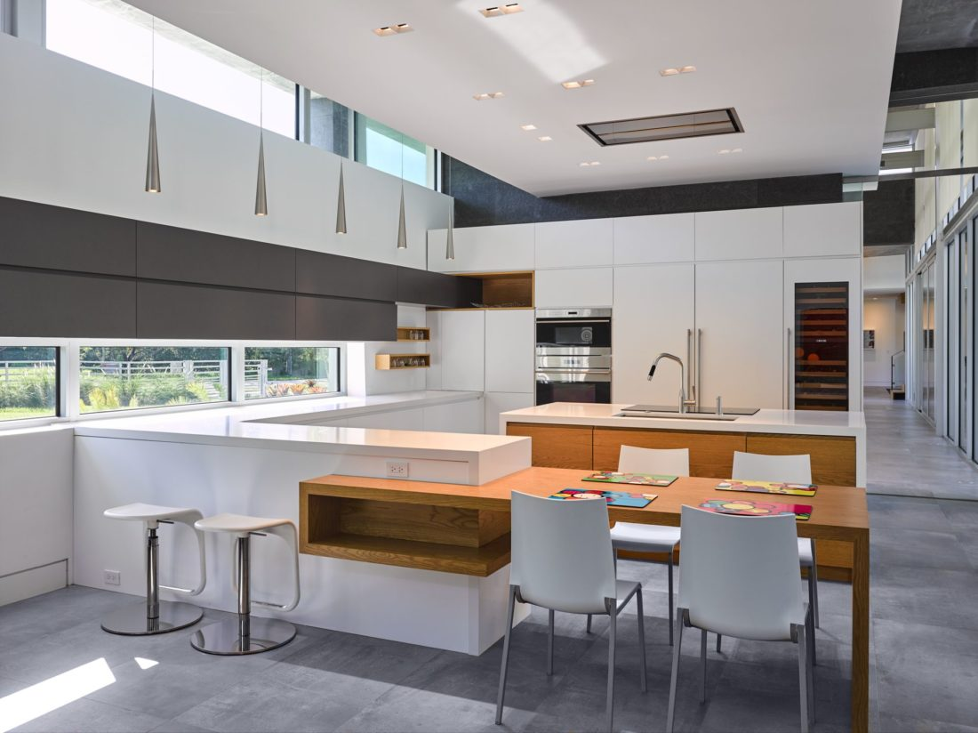 Gourmet Boffi kitchen with white lacquer cabinets